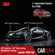 [3M SUV Gold Package] 3M Autofilm Tint and 3M Silica Glass Coating for Hyundai Santa Fe (TM), year 2018 - Present (Deposit Only)