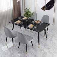 Luxury Italian slate dining table  dining table minimalist dining table home high-end restaurant marble dining table four modern dining table