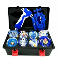 12Pcs Beyblade Burst Blue Set Cho-Z Valkyrie / Turbo Valtryek With Launcher