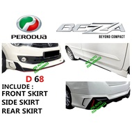 PERODUA BEZZA 2016-2019 DRIVE 68 BODY KIT D68 SKIRT SKIRTING FULL SET ABS BODYKIT VVT