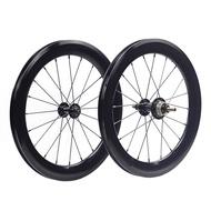 SILVEROCK Alloy Aero Wheelset 5-7 Speed 16 x1 3/8 349 40mm for Brompton 3sixty Pikes TRIFOLD Folding Bike HIGH PROFILE 4CM Wheels