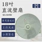 【S&D新笛】18吋 DC直流遙控壁扇 (SD-2181RD)