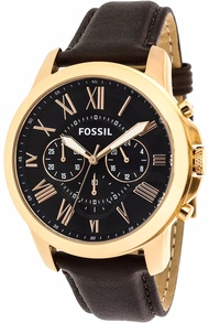Fossil Men's Grant FS5068 Brown Leather Japanese Quartz Dress Watch