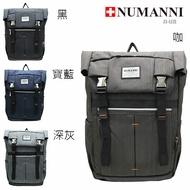 76-606【NUMANNI 奴曼尼】雙插扣功能性後背包 (四色)