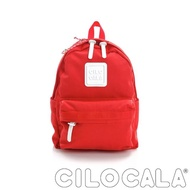 【CILOCALA】亮彩尼龍防潑水後背包-中包(紅色)