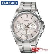 ส่งฟรี !! Casio Standard นาฬิกาข้อมือผู้ชาย สายสแตนเลส รุ่น MTP-1375D-7AVDF (Silver/White)