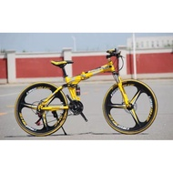 9.9 sales begasso foldable bike bicycle full suspension 26 inch bicycle cheapest