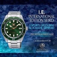 SEIKO INTERNATIONAL EDITION 5 SPORTS AUTOMATIC GREEN SRPB93K1