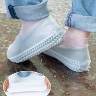 樂嫚妮 加厚防水矽膠鞋套仿輪胎紋防滑耐磨 (2色)-S碼 (附贈防水收納袋)