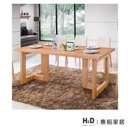 科林6尺原木全實木餐桌/H&D東稻家居-消費滿3千送點數10%