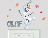 迪士尼冰雪奇緣2系列開關壁貼-雪寶 BID130《筑品文創》