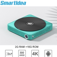 Smartldea Newest Smart Pocket Mobile Mini Projector, with Battery Support 4K Miracast Airplay Wifi Home Video Projector Beamer