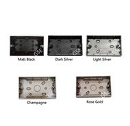Legrand Mallia Legrand Galion 2Gang 2G Surface Mounting Box Black Silver Rose Gold Champagne Standard Size Switch Box GSE