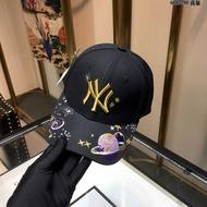 MLB星球棒球帽遮陽帽女士2019帽子簡約洋基隊帽子305
