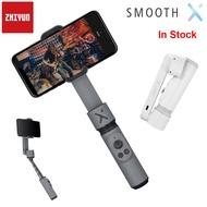 Zhiyun Smooth X Selfie Stick สมาร์ทโฟน Gimbal Stabilizer สำหรับ iPhone 11 PRO MAX SE XS XR X Samsung Huawei Xiaomi OPPO สมาร์ทโฟน