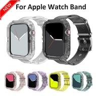 สายรัดข้อมือซิลิโคนสำหรับApple Watch 6 /Se/5 4,สาย44มม. 40มม. แบบใสสำหรับI Watch Series 3/2/1สายนาฬิกาข้อมือ42มม. 38มม.