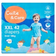 Tesco Fred & Flo / Lotus's Cute & Care Diapers Pampers (Blue)
