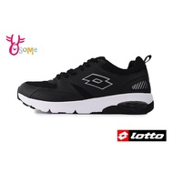 LOTTO樂得 義大利 男款 彈力避震 路跑訓練 網布運動鞋 慢跑鞋 M8605 黑色 OSOME奧森鞋業