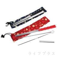 小白花#304不鏽鋼筷夾組(筷+夾)-2組入