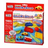 小禮堂 TOMICA小汽車 黏土模具組合《4色.紅盒裝》兒童玩具.美勞玩具