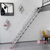 戶外梯 家用鋁加厚合金折疊戶外十步十一步單梯室內工程梯行動伸縮閣樓梯T【全館免運 限時鉅惠】