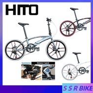 🔥In Stock🔥Hito X6 Folding Bicycle Shimano Variable Speed 20/22-inch Dual-tube Ultra-light Portable Road Foldable Bicycle Aluminum Alloy Frame With Disc Brake Bike No installation required