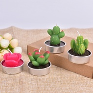 1PC Creative 3D Cactus Candles Simulated Plants Smokeless Scented Candle Home Decoration Valentine Day Gift Party Ornament
