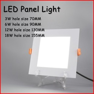 LED筒灯超薄面板灯 LED Panel light 6W 12W 18W Round Ultrathin Power Driver Ceiling Panel Lights Cool/Natural/Warm White Dimmable LED Downlight