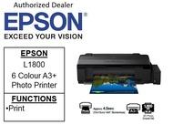 [Singapore warranty] Epson EcoTank L1800 A3+  Borderless Single Function 6-Colour Photo Printer 1800 L 1800(Free $10 NTUC voucher till 30/08/2020 , Online REDEMPTION by 14/09/2020)