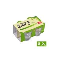 【韓購網】韓國燒酒杯(4入)★容量60ml玻璃製★一口杯真露燒肉小酒杯韓劇迷最愛
