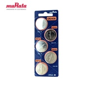 【muRata 村田】CR2430 鈕扣型鋰電池5入/卡 台灣公司貨