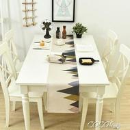 桌巾 棉麻餐桌旗家用床尾巾北歐茶幾桌旗床旗餐桌裝飾布長條布可 年貨節預購