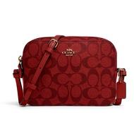 กระเป๋าสะพายข้าง COACH 91677 MINI CAMERA BAG IN SIGNATURE CANVAS (IMF8Q)