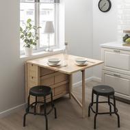 北歐工業LOFT風格經典IKEA宜家NORDEN折疊桌實木餐桌工作桌/實心樺木/二手八成新/原$6490特$4500
