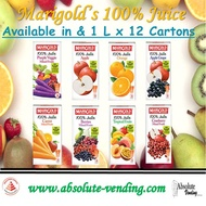 MARIGOLD 100% Juices and UHT Assorted Milk 1L X 12 (Tetra) Promo