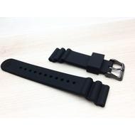Seiko原廠22mm黑色扣矽膠錶帶(鮪魚罐適用)