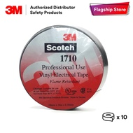 Spot Free Shipping3M Scotch 1710 Vinyl Electrical Tape/ Wire Tape/ Insulation Tape /PVC Tape [ Black/ 10 rolls/ packet ]