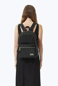 美國名牌 Marc Jacobs 帆布 後背包 黑色 燙金LOGO 限量款 保證正品 現貨 加送MK手拿貝殼包