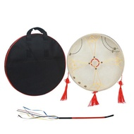 Shaman Drum Frame Drum Hand Drum Traditional Chinese Percussion Instrument with Drum Bag Drum Whip