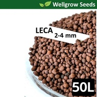 50L LECA 2-4mm (Clay Pebbles / Clay Balls / Hydroton) 陶粒(细)  for Hydroponics & Aquaponics / Mulching Use ≈24kg