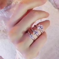 現貨實拍  Tiffany張馨予結婚鑽戒👼s925純銀材質進口鑽戒  1-2-3克拉碼數5678都齊全 厚實質感鉆戒