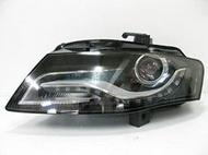 ~~ADT.車燈.車材~~AUDI A4 08 09 10 11 12 B8 原廠型LED燈眉魚眼大燈 原廠HID可移植