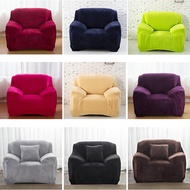 Velvety Feel Universal Elastic Sofa Cover Cover Sofa Cloth Plush Stretch Fitted L shaped Sofa Cover