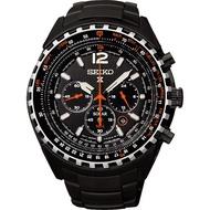 SEIKO Prospex 冒險家三眼計時腕錶-IP黑/45mm V175-0CK0SD(SSC263P1)