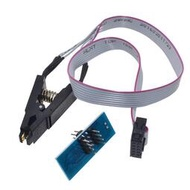 燒錄夾SOP8轉DIP8 300mil 25系列16腳芯片專用夾燒錄座夾子線