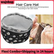 【ของมันต้องมี】wujnbop เครื่องอบไอน้ำผมหมวกเครื่องอบผ้าไฟฟ้าหมวกทำความร้อนความร้อนสปาบำบัดหมวก Beauty