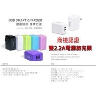 【商檢合格】SONY Xperia Z3+ Xperia Z4 E6533  2.2A雙USB充電器 旅充 充電頭(139元)
