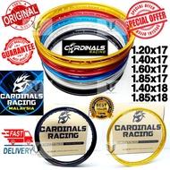 Offer Cardinals Racing Alloy Rim 1.20x17/1.40x17/1.60x17/1.85x17/1.40x18/1.85x18 Silver/Blue/Black/Red/Gold Aluminium Ri