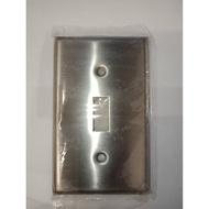美國 COOPER 93071 單孔 白鐵 不銹鋼 開關蓋板 面板 Toggle型 工業風 工業開關 蓋板
