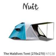 出售 2手 NTG38 努特NUIT 馬爾地夫鋁合金科技黑膠六人帳 (科技遮光膠) ❤️